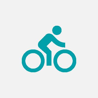 A pie y a bici